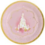 8 Plates Princess for a Day Round Papier 23 cm