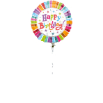 Jumbo Radiant Birthday Happy Birthday Foil Balloon P45 Packaged