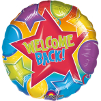 Standard Festive Welcome Back Foil Balloon S40 Packaged