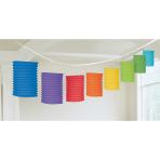 Lantern Garland Rainbow Paper 365 cm