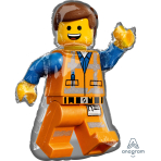 SuperShape Lego Movie 2 Emmet Foil Balloon P38 Packaged 60cm x 81cm