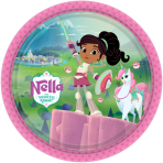 8 Plates Nella The Princess Knight Paper Round 22.8 cm