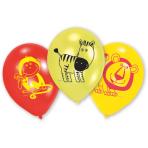 6 Latex Balloons Safari 22.8 cm/9''