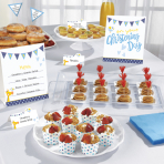 Buffet Kit Christening blue 12 parts