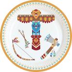 8 Plates Tepee & Tomahawk 18cm