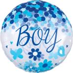 Jumbo Confetti Balloon Baby Boy Foil Balloon P45 packaged