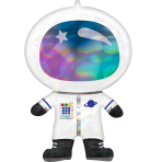 Supershape Holographicgraphic Iridescent Astronaut Foil Balloon P40 packaged