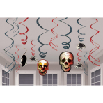 12 Swirl Decorations Creepy Carnevil Foil / Paper 61 cm