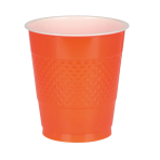 10 Cups Orange Peel Plastic 355 ml