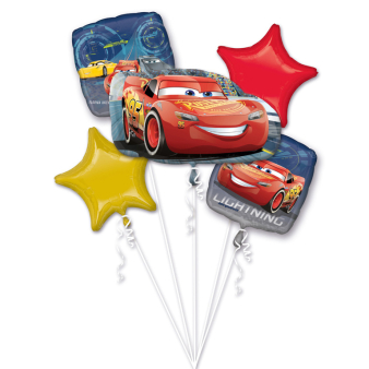 "Bouquet ""Lightning McQueen"" 5 Foil Balloons, P75, packed"