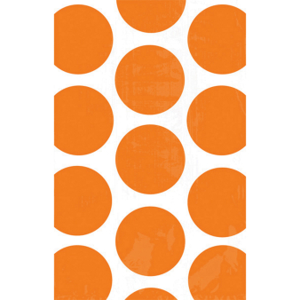 10 Paper Treat Bags Polka Dot Orange Peel 11.3 x 17.7 cm