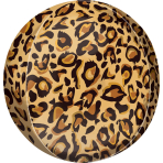 Orbz Leopard Print Foil Balloon G20 Packaged