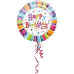 Standard Radiant Birthday Happy Birthday Foil Balloon S55 Packaged