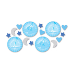 Confetti Christening Booties -Blue 14 g