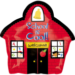 Junior Shape School House FoilBalloon S50 packaged