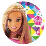 8 Plates Barbie Sparkle Paper  23 cm