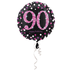 Standard Pink Celebration 90 Foil Balloon Round S55 packed 43 cm