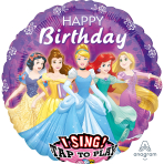 "Sing-A-Tune ""Disney Princess"" Foil Balloon  , P75, packed, 71 x 71cm"