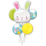 Bouquet Hello Bunny Foil Balloon P75 packaged
