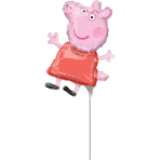 Mini Shape Peppa Pig Foil Balloon A30 Airfilled