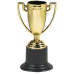 6 Trophy Cups Plastic 10 cm