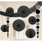 Decorating Kit Colourful Wedding Black 9 Pieces