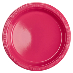 10 Plates Plastic Magenta 17.7cm