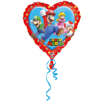 "Standard ""Mario - Love"" Foil Balloon Heart, S60, packed, 43cm"