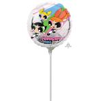 """9'' """"Powerpuff Girls"""" Foil Balloon Round, A20, airfilled, 23cm"""