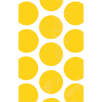 10 Paper Bags Polka Dots Sunshine Yellow 11.3 x 17.7 cm