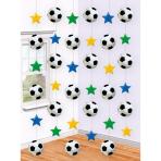 6 String Decorations Championship Soccer Foil 213 cm