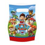 8 Plastic Loot Bags Paw Patrol