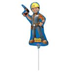 """Mini Shape """"Bob the Builder"""" Foil Balloon, A30, airfilled, 15 x 33 cm"""