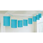 Lantern Garland Carribean Blue Paper 365 cm