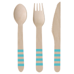 Cutlery Pineapple Vibes Wood (8 Knives, 8 Spoons, 8 Forks) 16.5 cm / 15.9 cm / 15.8 cm