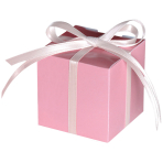 100 Treat Boxes Colourful Wedding  New Pink 5.7 x 5.7 x 5.7 cm