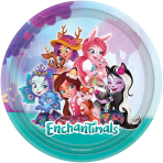 8 Plates Enchantimals Paper Round 22.8 cm