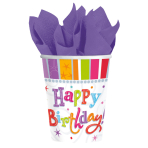 8 Cups Radiant Birthday Paper 266 ml