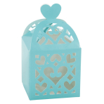 50 Favour Boxes Colourful Wedding Robin's Egg Blue 6.3 x 6.3 x 6.3 cm