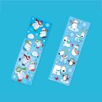 8 Winter Fun Stickers Joyful Snowman 15 x 5 cm