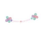 Decoration Kit Happy Birthday Pastel