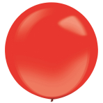 "4 Latex Balloons Decorator Crystal Apple Red 61 cm / 24"""