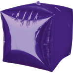 Cubez Purple Foil Balloon G20 Bulk 38 x 38 cm