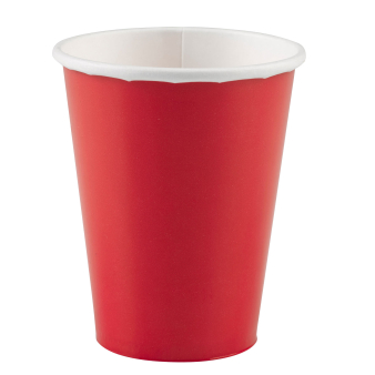 8 Cups Apple Red Paper 250 ml