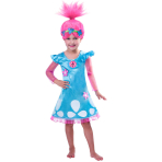 Child Costume Trols Poppy Age 5 - 6 Years