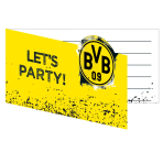 8 Invites & Envelopes BVB Dortmund 13,9 x 8 cm