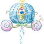 SuperShape Cinderella CarriageFoil Balloon P38 Packaged 83  x 58 cm