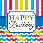16 Napkins Bright Birthday 33 x 33 cm