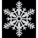 Cutout Snowflake Glitter Silver Plastic 28 cm