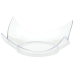 10 Mini Curved Plates Plastic Clear 7.6 cm